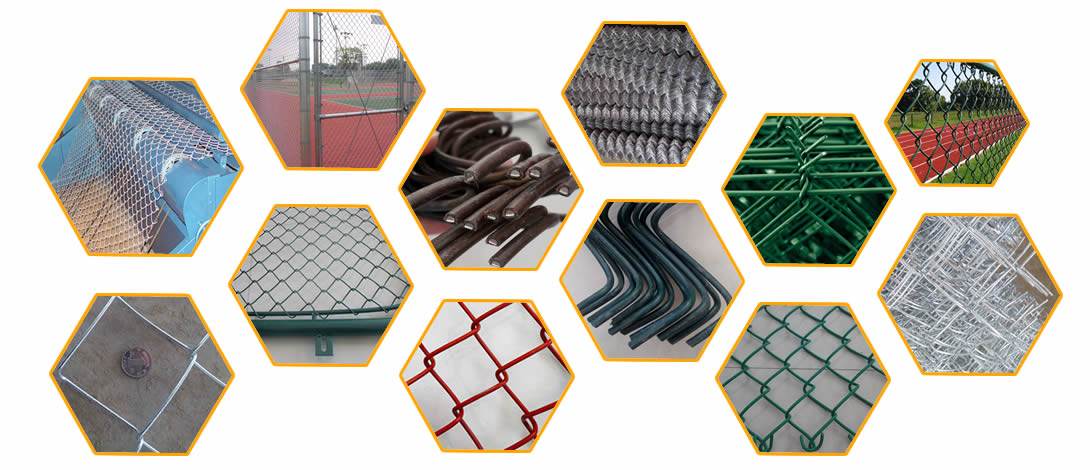 Our company manufactures galvanized/PVC/stainless steel chain link mesh for sports and road fencing.